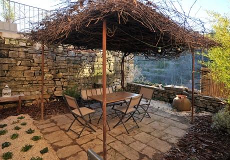 Terrasse rez de chaussé, végétalisée